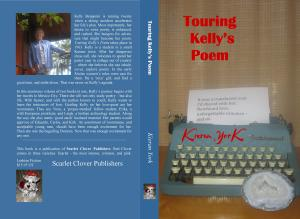 Touring Kelly's Poem Cover WIP blue back red Kieran tyoewriter